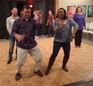 Chris and Cherita, getting their groove on!